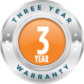 3 years warranty logo