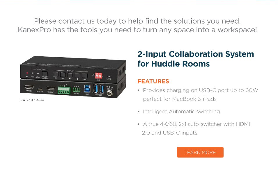 2x1 USB-C & HDMI Auto Switcher with Video Conferencing Support