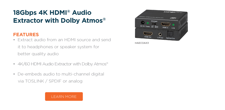Extract Digital & Stereo Audio from HDMI