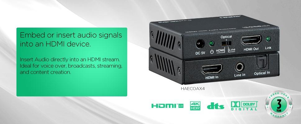 Insert Audio Signals into HDMI device