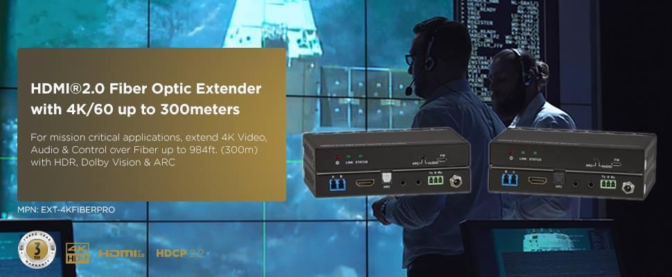 4K Fiber Optic Extender