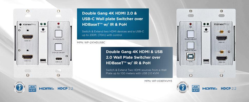HDBT wall plate series