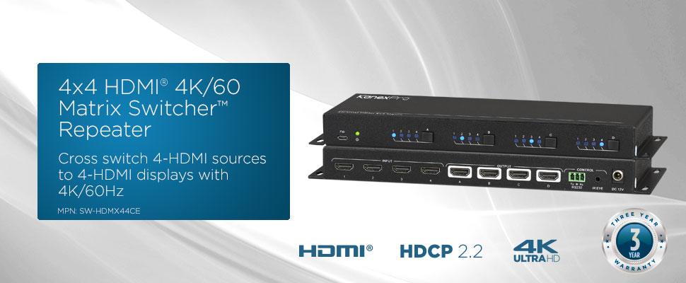 4X4 HDMI Matrix W/ 4K