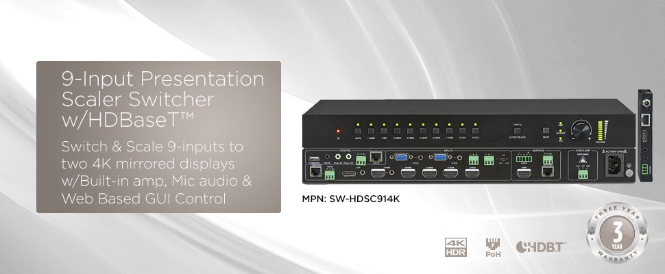 9 Input Presentation Scaler & Switcher