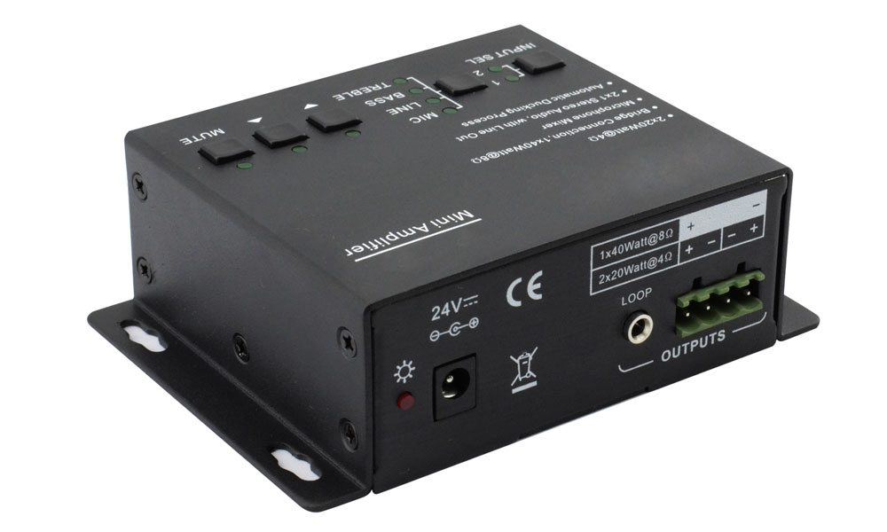 Class D amplifier with EQ control and MIC mixer function