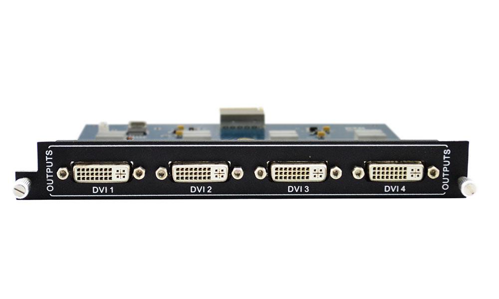 Add 4 DVI outputs to Modular Matrix Switcher