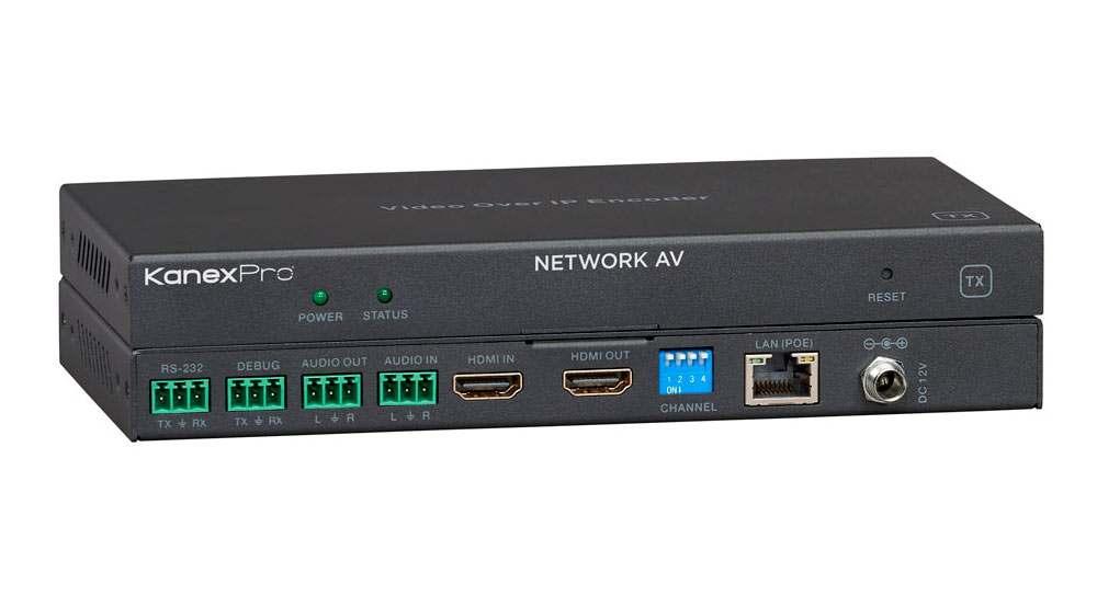 NetworkAV™over IP Encoder w/ POE & RS-232