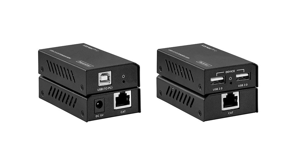 The extender offers the most convenient solution for USB 2.0 extension over a single Cat5e/6 with long distance capability and is the perfect solution for any application.