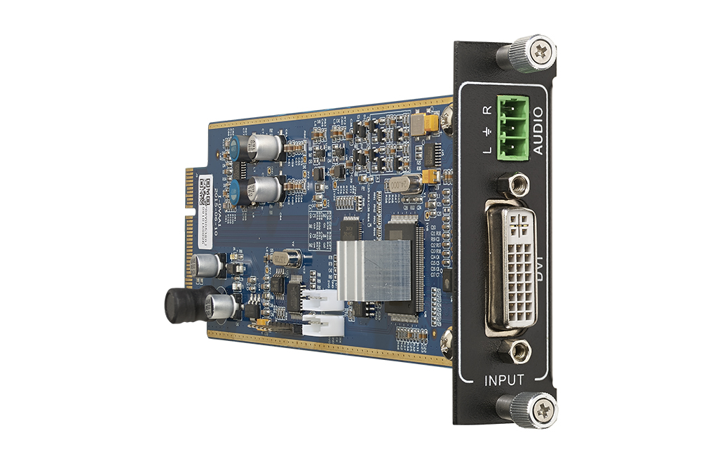 Seamless one input DVI card with embedded PCM audio