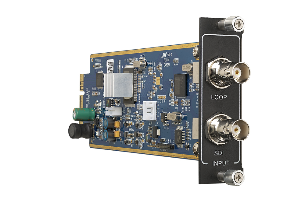 Seamless one input HD-SDI card with loop out