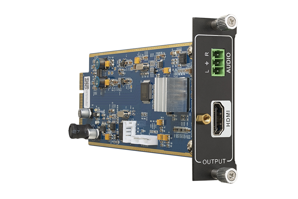 Seamless one output 4K HDMI card with de-embedded PCM audio