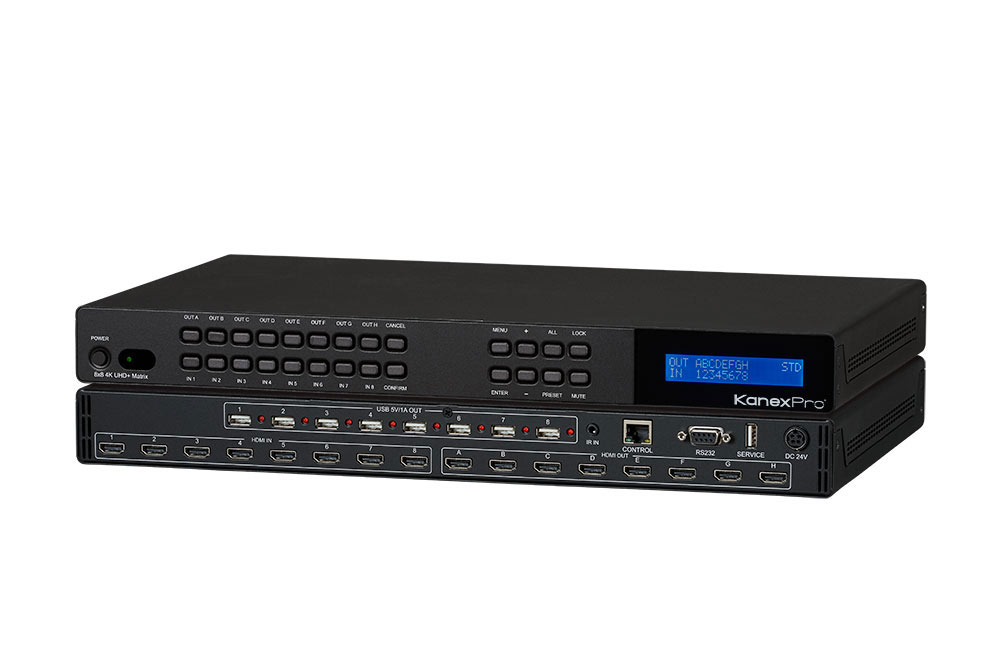 Cross-Switch eight HDMI sources to eight 4K displays with HDCP2.2