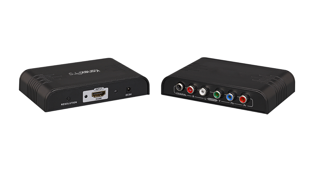 Convert HDMI to component video and stereo audio