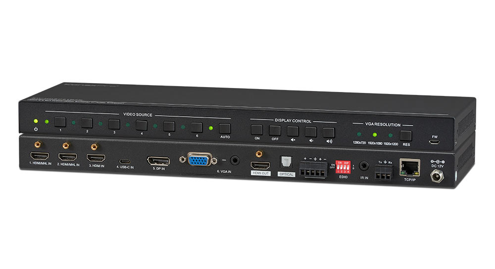 Switch & Scale Six inputs to one 4K Display