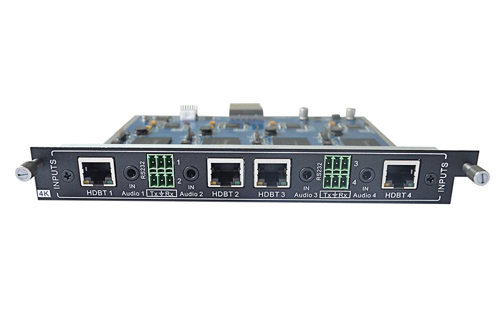 Add 4-Input HDBaseT Card w/ 4K UHD to an MMX Switcher