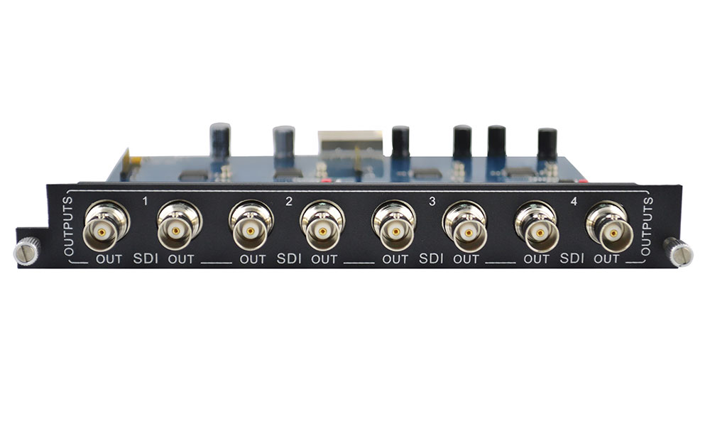 Add 4 SDI outputs to Modular Matrix Switcher
