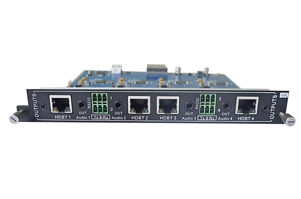 Add 4-Output HDBaseT Card w/ 4K UHD to an MMX Switcher
