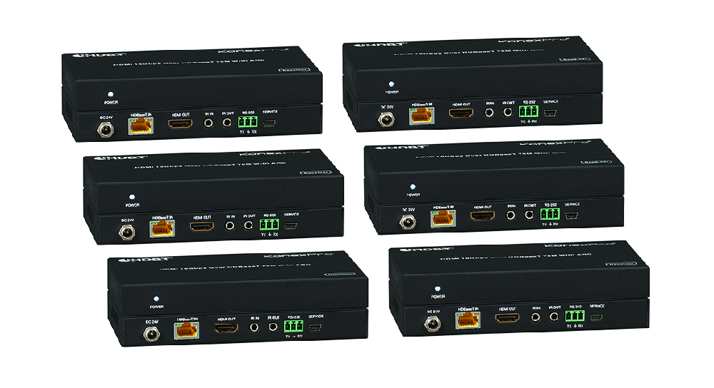 Cross-switch 8 HDMI to 8 Displays over HDBaseT with PoC, Separate Audio & Control