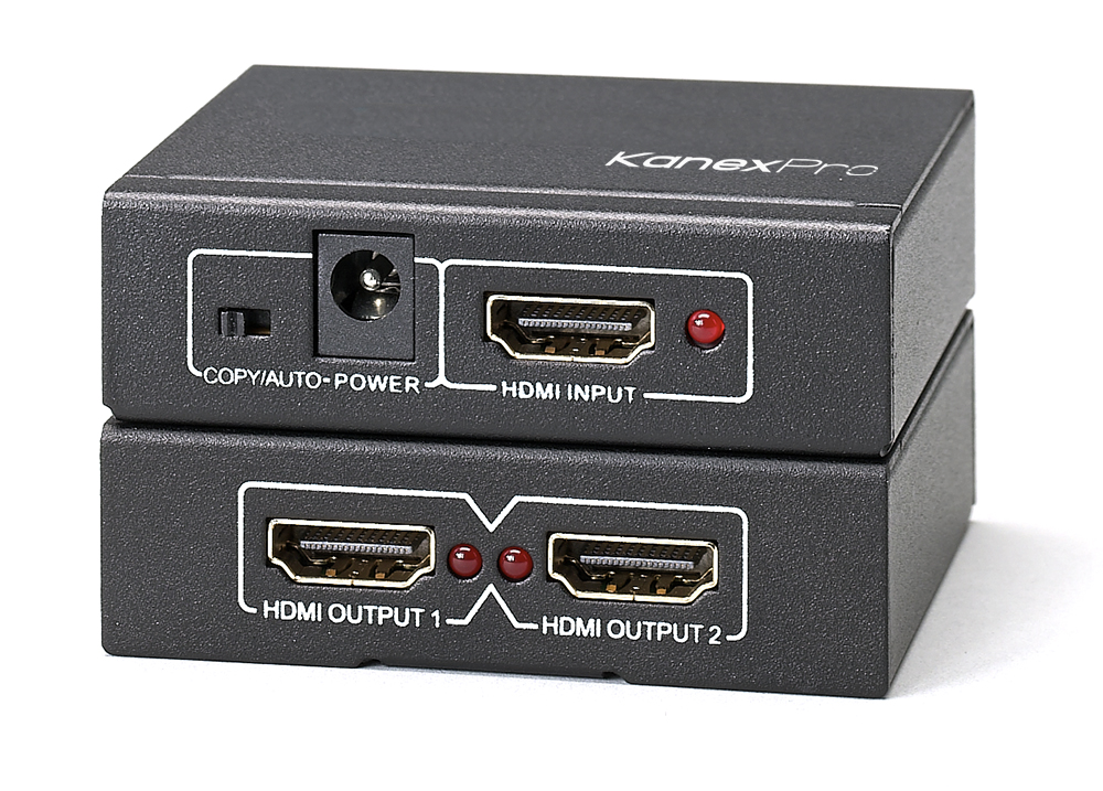 1x2 HDMI Splitter with 4K Cinema resolutions