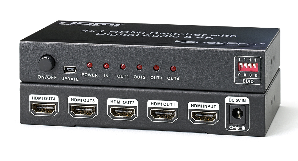 4K UHD HDMI 1x4 Port Splitter