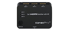3x1 HDMI Switcher with 4K Support