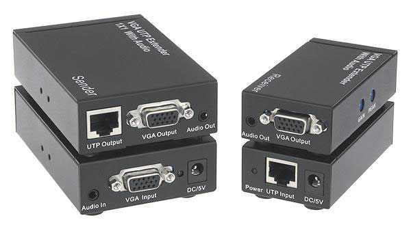 VGA 1x1 Extender over CAT5e/6 with Audio up to 1,000ft (300m)
