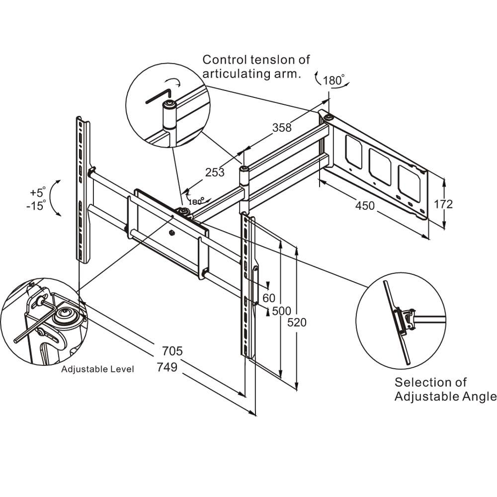 "For 32""-60"" Plasma/LCD/LED/DLP Flat Panel TVs"