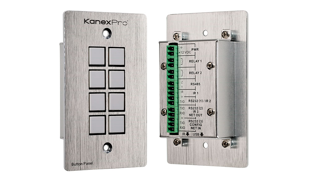 Wall plate based Control Panel for AV devices - Silver