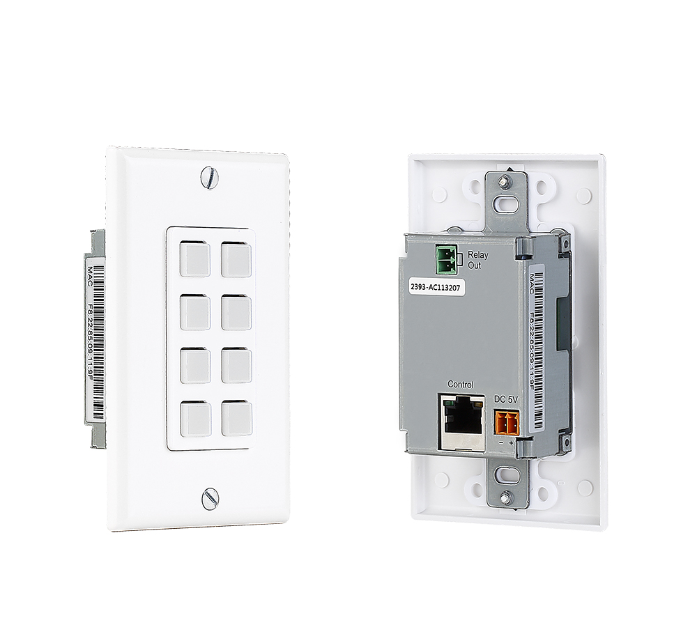 Wall plate based Control keypad w/ PoE and Easy to use control software