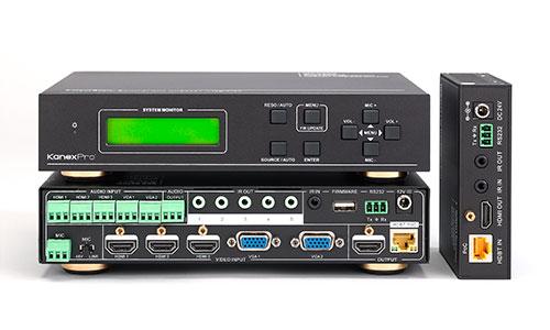 Kanex HDSC51HDBT 5-Input Presentation HDBaseT Switcher & Scaler with Audio